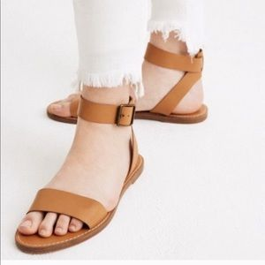 NWT Madewell the boardwalk ankle sandals